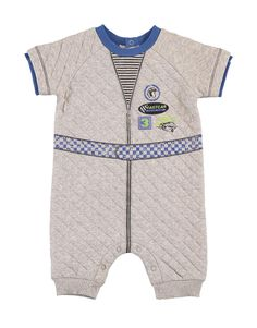 Race Car Quilted Romper