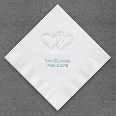 Pearl Swish Hearts Napkins