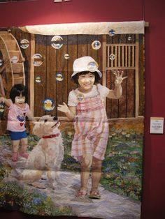 International Quilt Week Yokohama 2013 - Chasing Bubbles by Hiroko and Masanobu Miyama