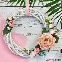 spring wreath indoor decoration  #springwreath #wreath #inddordecor #rosewreath #rusticdecoration Factory Design, Floral Wreath, Wreaths, Spring, Photos, Home Decor, Pictures, Homemade Home Decor, Flower Crown