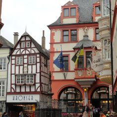 Bernkastel, Germany on the Mosel River  I loved shopping and dining in Bernkastel.  I remember walking these same streets.