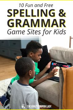 Looking to find things to do for the kids? Want to help your child pair screen time with learning? Here are ten of the best free educational games for kids that help kids brush up on their spelling and grammar skills with online educational games via sites and free apps. The Krazy Coupon Lady has you covered! Punctuation Games, Grammar Games, Grammar Skills, Spelling City, Spelling Games, Spelling And Grammar, Educational Games For Kids, Fun Games For Kids, Vocabulary Games For Kids