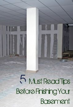 5 Tips to Finishing Your Basement. DIY, DIY home projects, home décor, home, dream home, DIY. projects, home improvement, inexpensive home improvement, cheap home DIY.