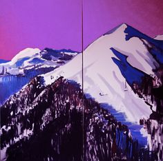 Alpy, malarstwo olejne, 200/200 cm, 2014 rok