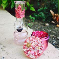 glass mini bong + princess Swarovski grinder from www.shopstaywild.com