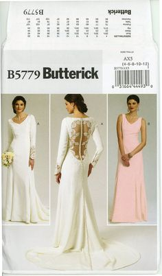 Wedding Dress Bridal Gown Pattern Uncut Erick By Cynical