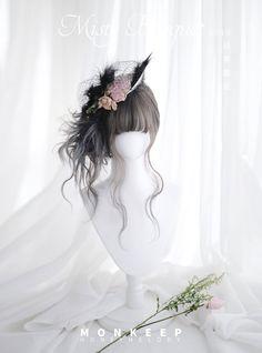 Harajuku Sweet Lolita Cosplay Honey Tea Long Curly Hair Girl Daily Wig Hairpiece