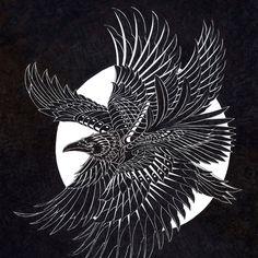 Moonlight Raven Framed Art Print by BIOWORKZ   Society6