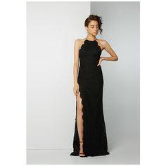 Black Dragon Eyes Lace Dress ($299) ❤ liked on Polyvore featuring dresses, black, tie-dye maxi dresses, lace maxi dresses, halter top, lace prom dresses and fitted maxi dress