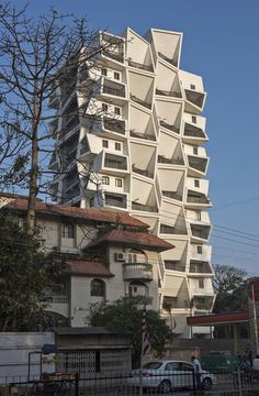 Completed in 2017 in Ranchi, India. Images by Dinesh Mehta . Situated in Ranchi, a city in East India, Ishatvam 9 is a residential building on a small plot of 1800 sqm. Most of the plot frontage along the main. Residential Building Design, Tower Design, Private Garden, Multi Story Building, Construction, India, City, Gallery, Modern