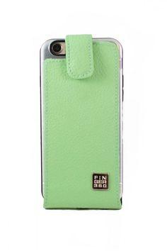 #Funda de #Cuero Verde #vespa auténtico #finger360 colección nautica #iphone