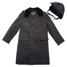 Rothschild Dark Charcoal John John Boy's Coat and Hat
