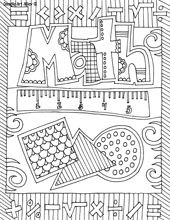 Great Journal covers - school subject coloring pages