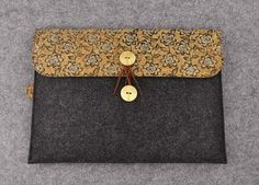 Dell Laptop Sleeve Vegan Felt Laptop Bag Dell Xps 15 by HeyLoveBag