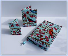 Another set of travel covers made using 'Wingsong' fabric by Michael Miller. https://www.etsy.com/uk/your/listings?ref=si_your_shop