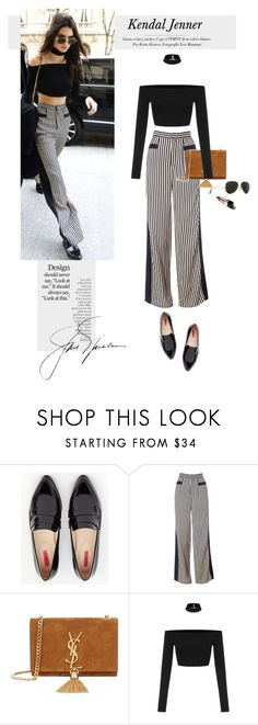 """""""..."""" by yexyka ❤ liked on Polyvore featuring By Terry, Daisy Street, Yves Saint Laurent and Ray-Ban"""