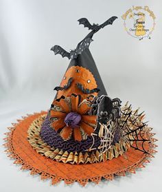 With Halloween so close I have been getting a lot of questions around creating decorations for the day. Source: The Fashion Witch Halloween Witch Hat, Halloween Cards, Holidays Halloween, Scary Halloween, Halloween Treats, Vintage Halloween, Happy Halloween, Halloween Decorations, Witch Hats