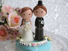 lovely bride and groom cake topper | Flickr - Photo Sharing!