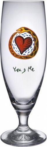 FRIENDSHIPDesign Ulrica Hydman Vallien • 2005 YOU AND MEØlglass 50 CLH 215 mm Hurricane Glass, True Love, You And I, Wine Glass, Bar, Real Love, You And Me, Wine Bottles