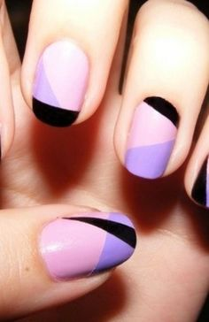 New Color Block Nail Art