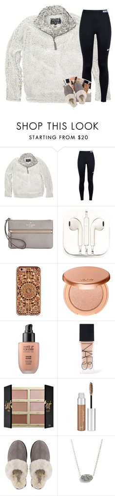 Im missin you by mmprep ❤ liked on Polyvore featuring True Grit, NIKE, Kate Spade, PhunkeeTree, Felony Case, tarte, MAKE UP FOR EVER, NARS Cosmetics, UGG and Kendra Scott