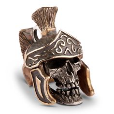 Premium Skull Pendant with exchangeable Roman Helmet Very detailed skull pendant from Sterling silver with weathered looking surface. The clou is the exchangeable helmet! You get this pendant with one helmet of your choice (more...