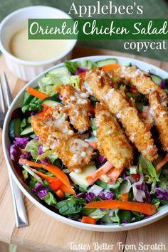 Applebee's Oriental Chicken Salad copycat recipe from…