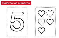 colorear el número 5