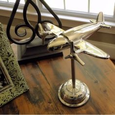 Nickle Art Deco Twin Propeller Airliner Sculpture | A Simpler Time