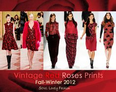 Vintage Red Roses Prints.  My edit.