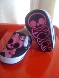 Baby crib Skull Shoes - too small for B, but maybe baby #2??