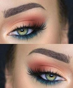 simple eye makeup tips for beginners that will take . – Make Up for Beginners & Make Up Tutorial Dramatic Eye Makeup, Eye Makeup Steps, Simple Eye Makeup, Colorful Eye Makeup, Natural Eye Makeup, Blue Eye Makeup, Smokey Eye Makeup, Makeup Eyeshadow, Green Makeup
