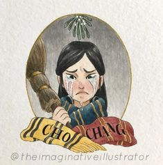 Cho by Melody Howe ( Harry Potter Tumblr, Harry Potter Fan Art, Harry James Potter, Harry Potter Portraits, Images Harry Potter, Harry Potter Sketch, Harry Potter Painting, Harry Potter Stickers, Harry Potter Drawings