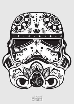 ThinkGeek :: Sugar Skull Trooper Fitted Ladies' Tee - Rebels Star Wars - Ideas of Rebels Star Wars - ThinkGeek :: Sugar Skull Trooper Fitted Ladies' Tee Poster Stranger Things, Manga Posen, Chat Origami, Skull Coloring Pages, Colouring, Free Coloring, Coloring Sheets, Coloring Book, Poster Minimalista
