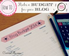How to set-up a blog #budget with free budget #printable! - carrieelle.com