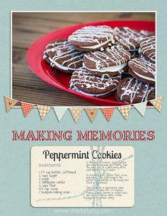 May want to make the cookies, too Delicious Cookie Recipes, Yummy Cookies, Dessert Recipes, Desserts, Fruity Drinks, Peppermint Cookies, Cookies Ingredients, Making Memories, Cookie Bars