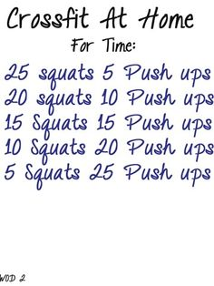 #crossfit work outs to do at home..... NO EXCUSES!!!