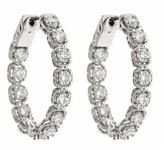 Neiman Marcus Diamonds 14k Diamond Hoop Earrings, 3.5tcw