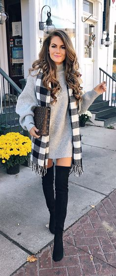 Here is Thigh Boots Outfit Gallery for you. Thigh Boots Outfit how to wear thigh high boots 2020 become chic. Thigh Boots Outfit w. Everyday Casual Outfits, Stylish Winter Outfits, Fall Winter Outfits, Casual Winter, Fall Skirt Outfits, Winter Style, Winter Ootd, Summer Outfits, Winter Hair
