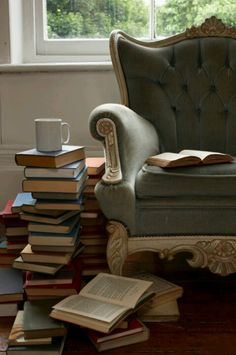A cosy place. A comfy chair. A pile of books. Create cozy spots all over the house.