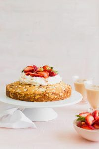 Almond Cake with Macerated Strawberries