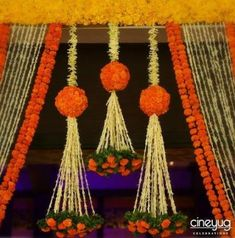 5 easy swaps for an Eco-friendly wedding! Diwali Decorations, Stage Decorations, Indian Wedding Decorations, Festival Decorations, Flower Decorations, Diy Flowers, Housewarming Decorations, Garland Decoration, Flower Garlands