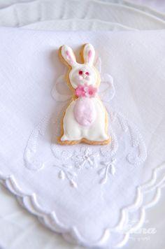 biscotto, coniglietto, rosa, pasqua, ricamo