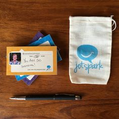 Make someone smile with a quick handwritten sticky note (custom made by JotSpark)