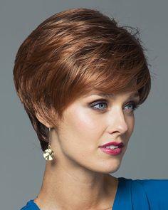 Megan by Noriko Wigs - Rene of Paris Short Hair Cuts For Women, Short Hairstyles For Women, Wig Hairstyles, Short Hair Wigs, Human Hair Wigs, Short Hair Styles, Short Layered Haircuts, Bob Haircuts, Wigs Online