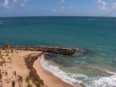 View From Hotel On Condado Beach http://www.puertoricoblogger.com/condado-beach/