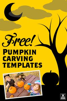 Download your FREE Camping Pumpkin Templates from KOA!