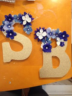 Initials for my little! Sorority crafts