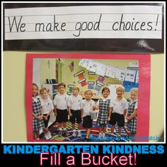 Kindergarten Bucket Filling, Positive Behavior Article