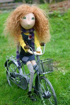 Handmade Cloth Doll Pippi Longstocking OOAK